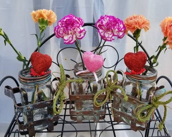 Three (3) Single Mason Jar Vases from the CAMPAGNE (French Country) Collection
