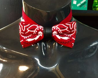 Red Hankie Bow Tie