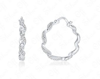 Gold hoop earrings 14k gold plated sterling silver hoop earrings, handmade round shaped hoop earrings, post earrings everyday wear jewelry