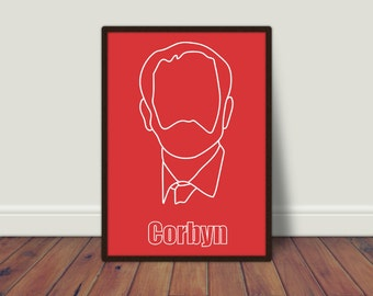 A4 Jeremy Corbyn A4 Printable - Instant Download - A4 Print