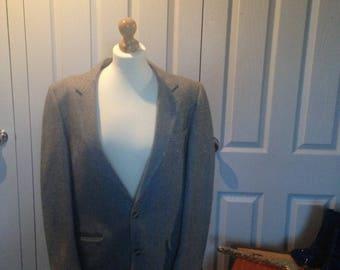 Vintage Mans Grey Jacket Blazer wedding cool style Father's Day