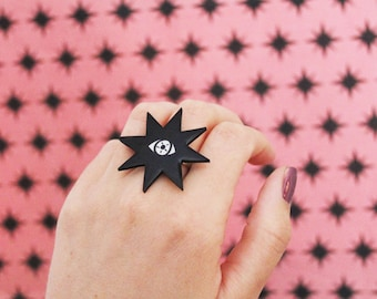 All Seeing Star Adjustable Ring