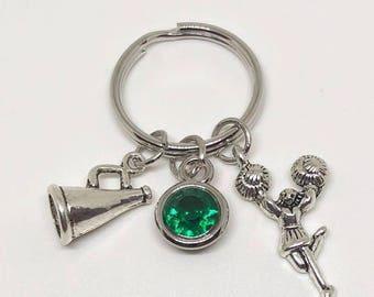 Cheerleader Key Chain CUSTOMIZED, Cheerleading Keychain, Cheerleading Gift, Cheerleader Gift, Cheerleading Coach, Cheerleading Jewelry
