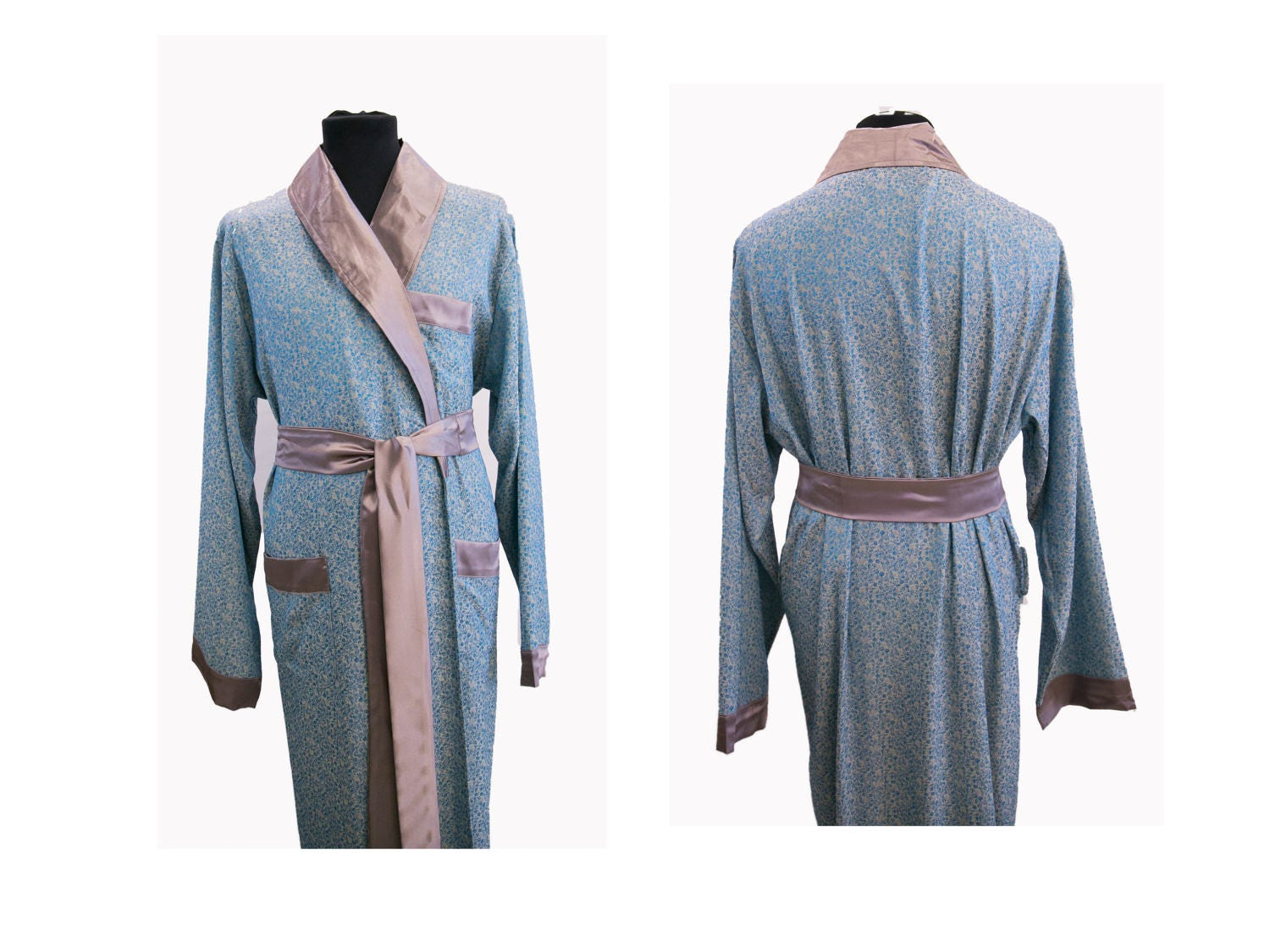 30% off Pajamas & Robe for Men, SILK SOFT Dressing Gown, Night Dress ...