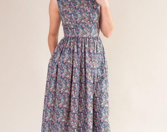 Midi length floral dress