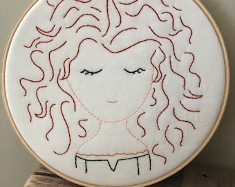 Merida Embroidered Hoop Art Wall Hanging