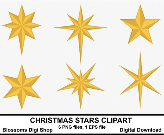 Christmas Stars Clipart Gold Star Clipart Star Elements