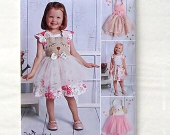 Simplicity Toddlers' Dress, Panties & Tutu Aprons Pattern #D0907 - UNCUT - Sizes 6 mo+1+2+3+4 (Breast 19+20+21+22+23)