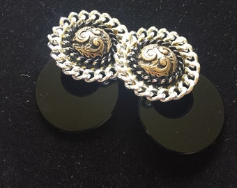 1980s western style clip on earrings