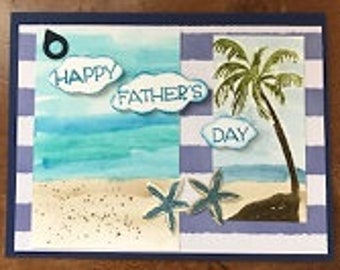 Beach Day Father's Day Greeting Card