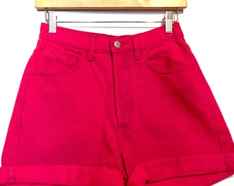 90s Vintage Guess Hot Pink High Rise Shorts small wb843375