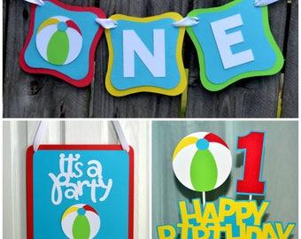 Beach Ball Party Package, Beach Ball First Birthday, Beach Ball Birthday Party Decorations, Beach Ball Party in a Box
