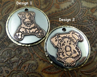 Airedale Custom Handmade Dog ID Tag Personalized Collar Pendant