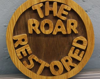 scroll saw cut penn state ornament---the roar restored