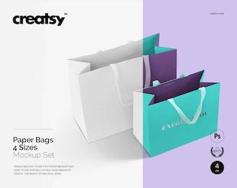 Paper Bags Mockup Set