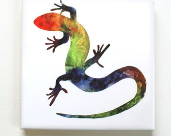Lizard 1 Tile Trivet Origianl Watercolor Sea Life