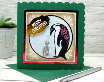Christmas Cards, Christmas Card, Penquin Card, Seal Card, Holiday Cards