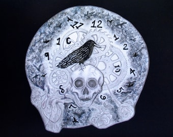 Time Bares All - 12 x 16 Surreal lowbrow Fine Art Print