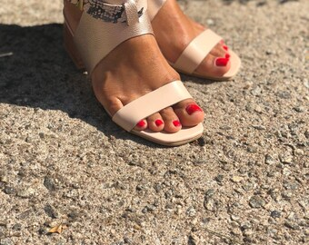 EMMA Sandals /Ankle Strap Leather heel Sandals/Women Sandals /Women Leather Shoes/ Genuine Leather/Handmade Sandals/ New/Leather Shoes