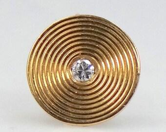14k Solid Gold & Diamond Tie Tack