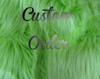 Custom sequin halter and green vest