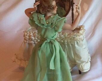 "Danbury Mint ""Going Out"" Porcelain Doll"