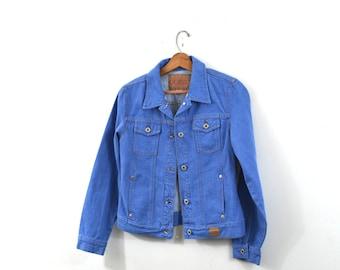 Vintage Denim Jacket Blue Denim Jacket Denim Coat Women's Jacket Jean Jacket 80s Denim Jacket Size Medium