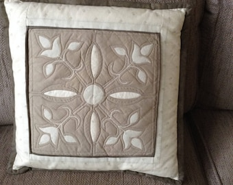 Patchwork cushion Cathedral Window Handmade