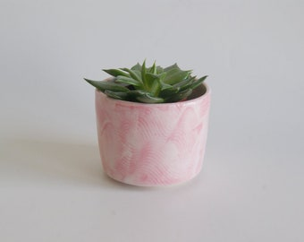 Ceramic Succulent Planter Spring Mothers Day Gift Ceramic Pottery Handmade Gift Housewarming Gift Pink Ceramic Planters