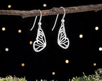 Sterling Silver Little Butterfly Wing Earrings