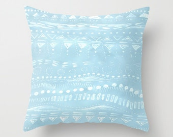 Pastel Blue Throw Pillow, pastel throw pillow, blue throw pillow, light blue pillow. geometric pillow