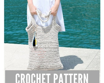 Crochet Pattern / Crochet beach bag pattern / Beach bag pattern / Summer tote bag pattern / Crochet bag pattern / Bag pattern