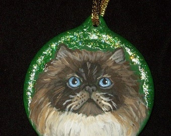 Himalayan Cat Custom hand Painted Christmas Ornament Christmas decoration