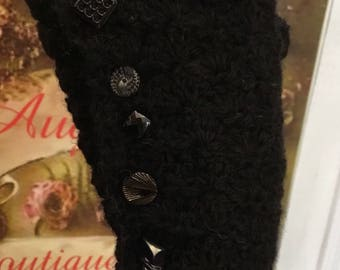 Fingerless gloves crochet 4 different colors black to grey