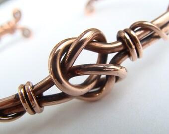 Celtic Knot Copper Bracelet