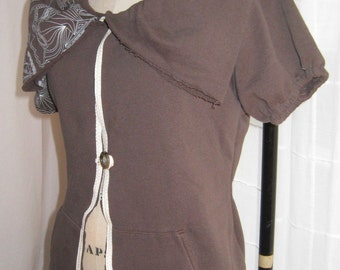 recycled upcycled brown sweatshirt