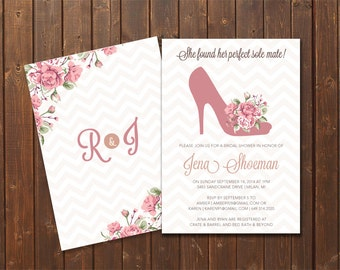 Perfect Sole Mate DIY Printable Bridal Shower Invitation