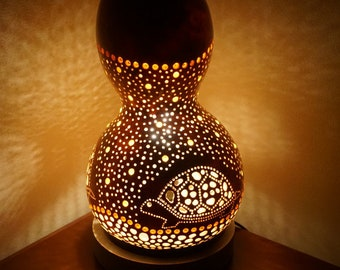 Solo turtle gourd lamp