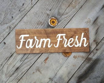 Farmhouse wall decor, Farmhouse sign, Rustic sign for kitchen, Wood wall art, Painted wood sign