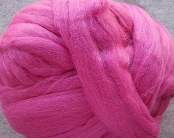 Merino Wool Roving, Wool Roving, Merino Roving, Felting Wool, Spinning Wool, Ashland Bay Wool,  8 oz - Fuchsia