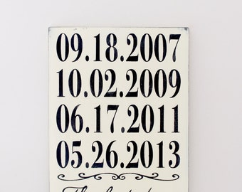 Important Date Sign, Personalized Wood Sign, Custom Date Sign, Anniversary Date, 5th Anniversary, Wedding Sign, Wood Wall Art