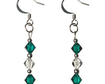 Green Diamond - Swarovski Crystal Earrings