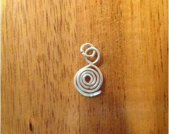 10 x 925 Sterling Silver Glue on Bails With Open Jump Ring, 21g - 0.7mm, Free Postage!