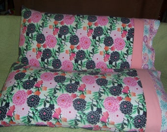 Japanese Blossoms pair of pillowcases