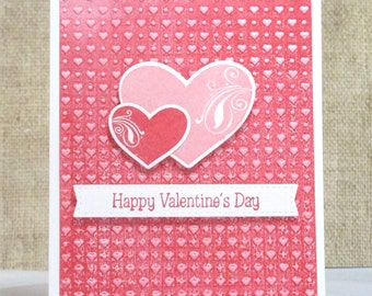 Valentine Wishes Card- Happy Valentine's Day- Friend Valentine- Girlfriend Valentine- Heart Day Card- Valentine Card- Clearance