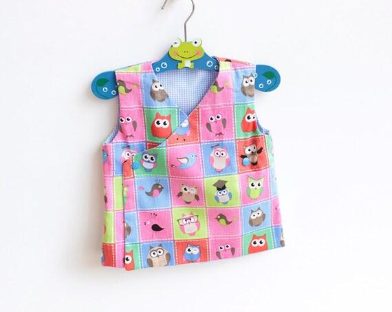 DEER Baby Kimono Top Vest Apron pattern Pdf sewing pattern