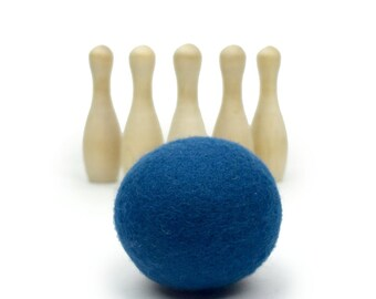 Wood Toys - Bowling Wood Toy - Waldorf Toys - 1st Birthday Gift - Wooden Toy