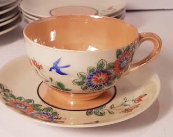 20 piece Porclain Lustre Ware Hand Painted Tea set