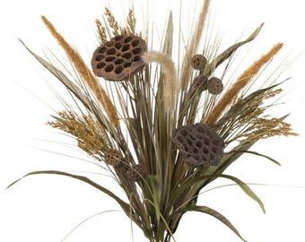 "Cattail Grass Lotus Stem 20"""