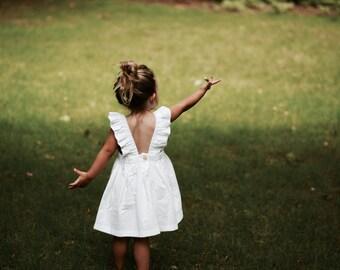 The Scarlett. White cotton ruffle dress.